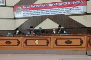 DPRD Jember Kirim Berkas Penetapan Cabup-Cawabup Terpilih Kepada Mendagri
