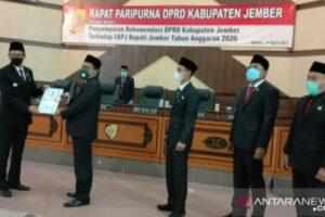 DPRD Jember Berikan Rapor Merah LPKJ Bupati tahun 2020