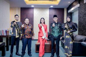 Audiensi Bupati Bersama Miss Global dan Gus Ning, Rapat Koordinasi Penanganan Covid-19
