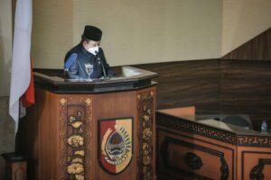 Jiwa Satria ditunjukkan oleh Bupati Di Hadapan Wakil Rakyat