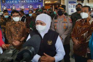 21 Kabupaten/Kota di Jawa Timur Kini Masuk Level 1, Gubernur Jawa Timur Tetap Tegaskan Patuhi Protokol Kesehatan