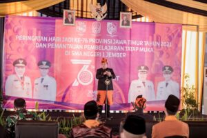 Bupati Jember Peringati HUT Jatim ke 76 Bersama Puluhan Siswa